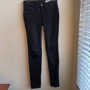 RAG & BONE The Legging Jean Black Pants 25 Stretch